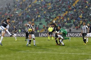 Ranocchia gol all'Udinese