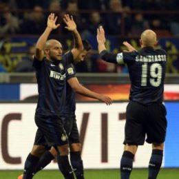 Una papera di Bardi e Nagatomo danno tre punti all'Inter nell'ultima di Moratti