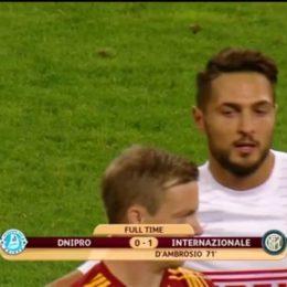 Dnipro-Inter, l'arbitro, Osvaldo e il coccolone