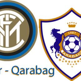 Formazioni ufficiali di Inter-Qarabag, in campo con la terza maglia