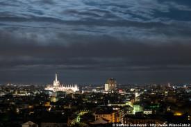 Panorama notturno sul centro