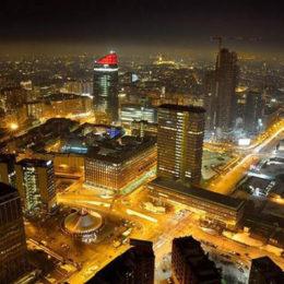 Colori nella notte - Milano dal Palazzo Lombardia