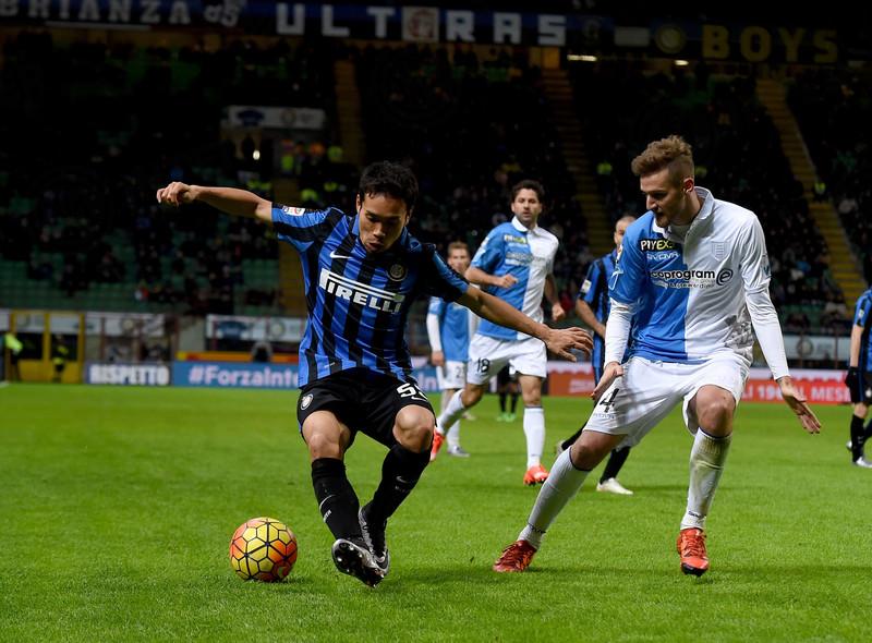 Nagatomo con l'Inter