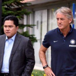 Thohir e Moratti sostengono Mancini, squadra in ritiro
