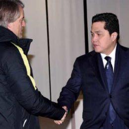 """Mancini: """"Resto al 100%, Ibra non torna, ma arriva Banega"""""""