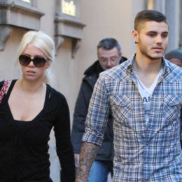 Mauro Icardi and Wanda Nara shopping in Milan