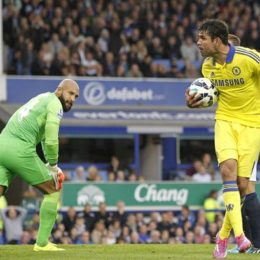 diego costa Everton-v-Chelsea