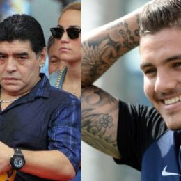 """Icardi risponde ai continui attacchi di Maradona: """"Non è un esempio per nessuno"""""""