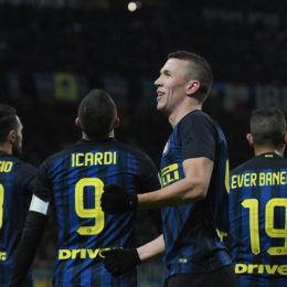 perisic esulta chievo bis