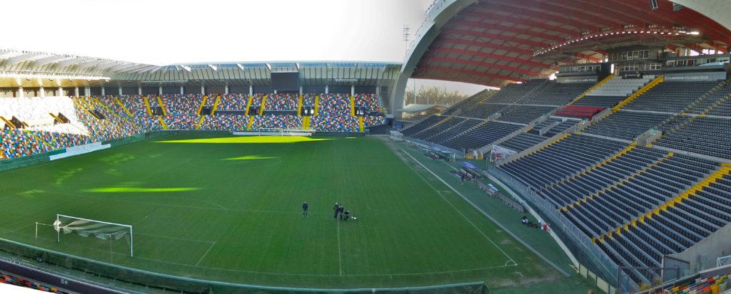 Il friuli di Uidine dove giocherà stasera l'Inter