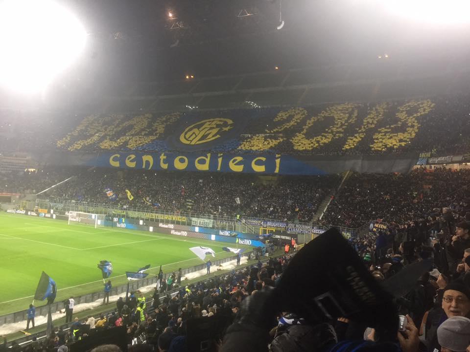 Coreo inter-napoli centodieci Inter