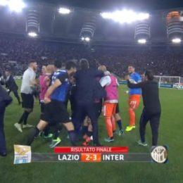 Lazio-Inter 2-3, esultanza finale