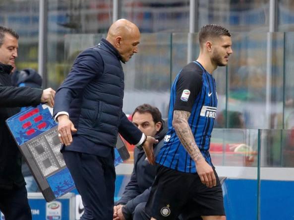 Sostituzione Icardi durante Inter-Juve