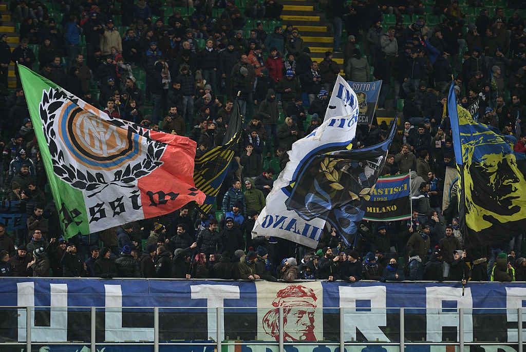 Bandiere curva nord Inter