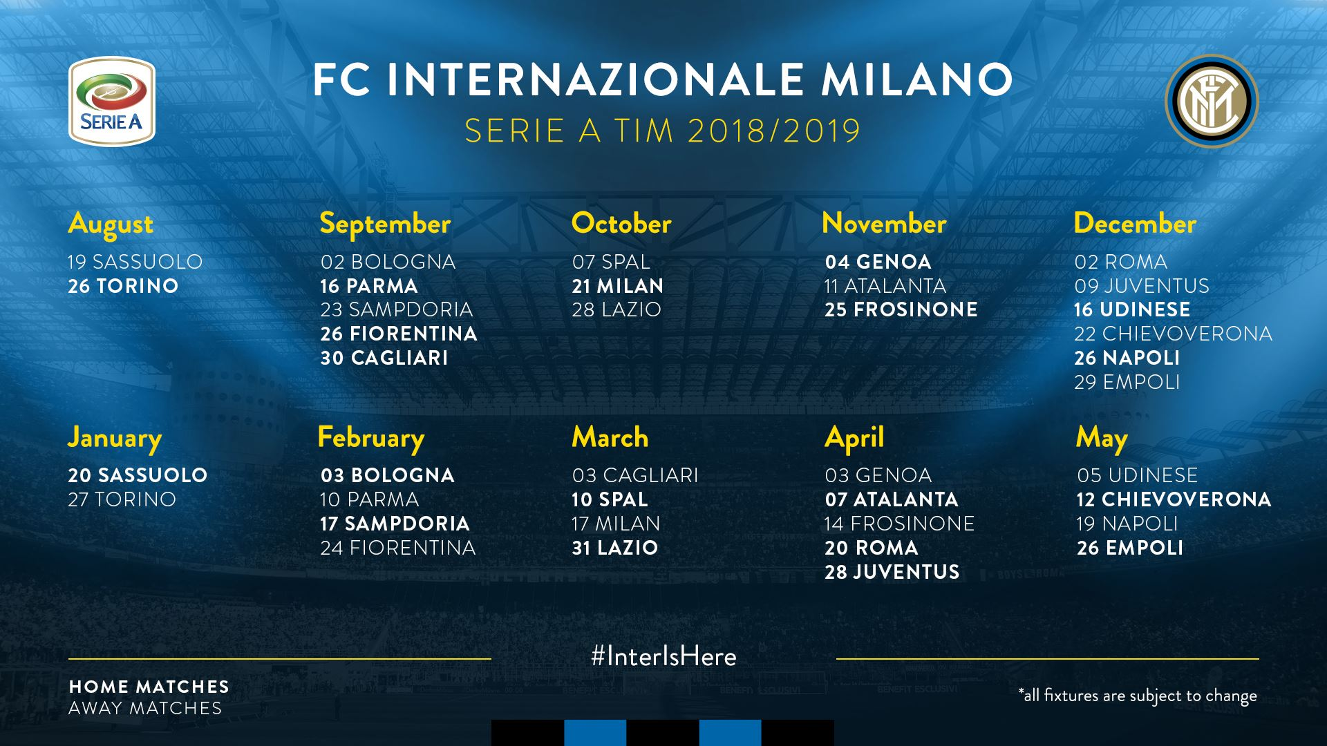 Calendario Partite Juve 2019.Il Calendario Dell Inter Partita Dopo Partita Notizie Inter