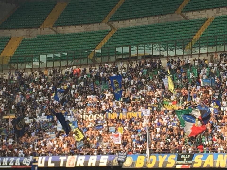 immagini della curva dell'Inter