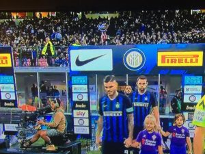 Ingressi in campo dell'Inter