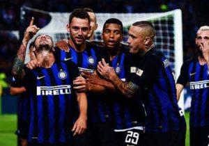 Esultanza dopo il gol dei calciatori dell'Inter