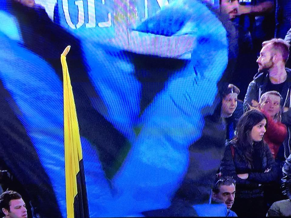 Tifosi dell'Inter all'Olimpico di Roma prima di Lazio-Inter del 29 ottobre 2018