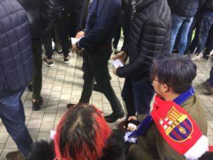tifosi giapponesi del Barcellona a san siro