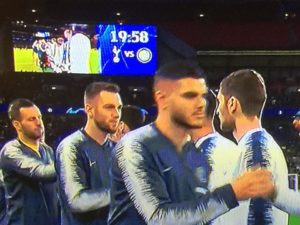 Tottenham inter ingresso in campo