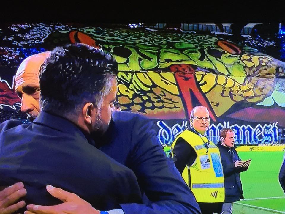 L'abbraccio tra Spalletti e Gattuso