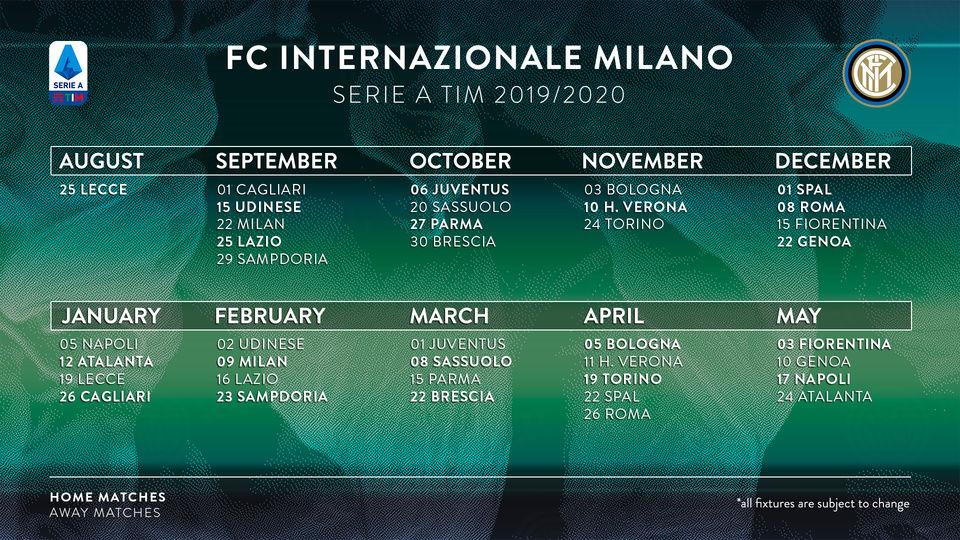 Calendario Internazionale 2020.Calendario Inter 2017 2018