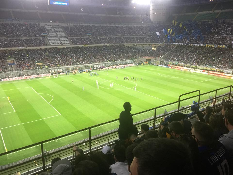 Foto allo stadio di san siro