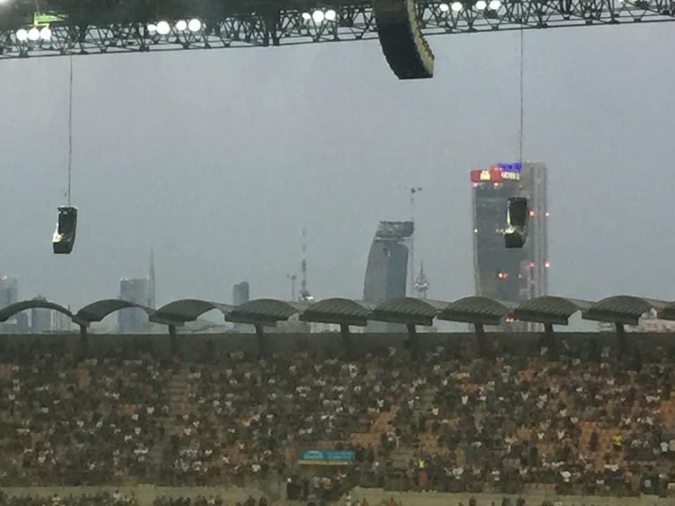 I grattacieli di milano visti dallo stadio san siro